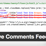 head内からコメントフィードを削除するWordPressプラグイン mypace Remove Comments Feed Linkを公開